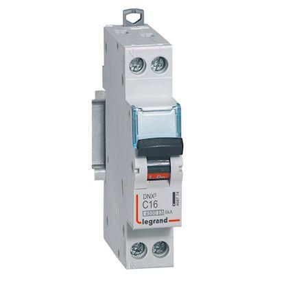 LEGRAND Disjoncteur DNX³ 4500 - vis/vis - U+N 230V~ 16A - 4,5kA - courbe C - 1 module 406774