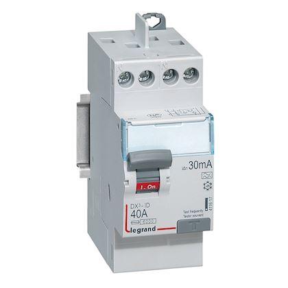 LEGRAND Interrupteur différentiel DX³-ID haut/haut vis - 2P 230V~ 40A typeA 30mA - 2 mod 411617
