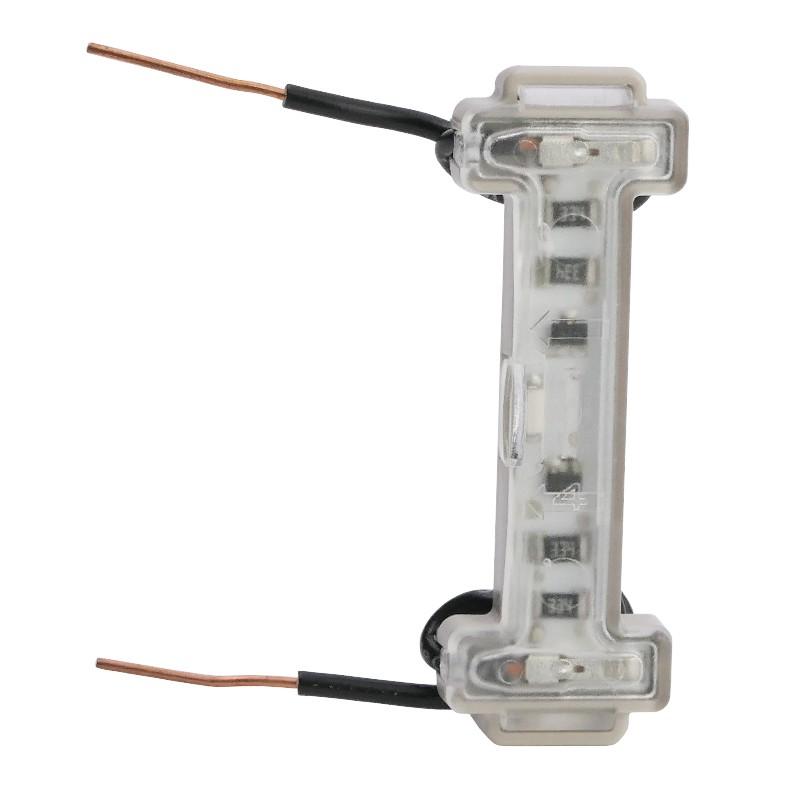 LEGRAND Voyant LED lumineux 230V dooxie à raccordement direct 2 fils - 0,15mA 600043