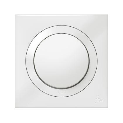 LEGRAND Interrupteur ou va-et-vient dooxie IP44 10AX 250V~ livré avec plaque carrée blanche 600013