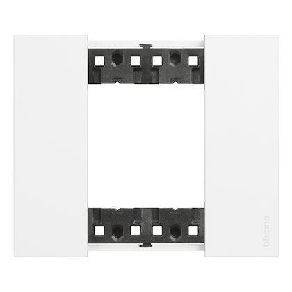 BTICINO Living Now plaque blanc 2 modules BTKA4802KW