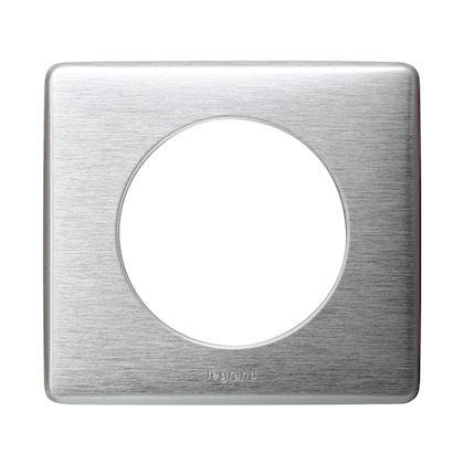 LEGRAND Plaque Céliane Métal 1 poste - finition Aluminium 068921