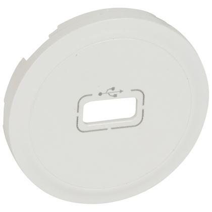 LEGRAND Enjoliveur Céliane pour prise USB - Blanc 068253