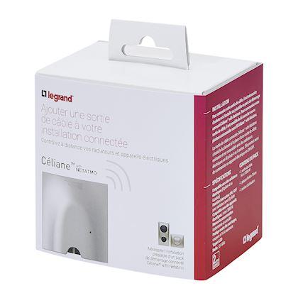 LEGRAND Sortie de câble connectée installation with Netatmo fil pilote 3000W - titane 064882