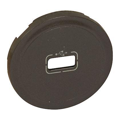 LEGRAND Enjoliveur Céliane pour prise USB - finition graphite 067950