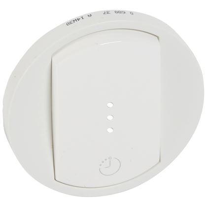 LEGRAND Enjoliveur Céliane interrupteur temporisé/interrupteur et ventilation - Blanc 068037