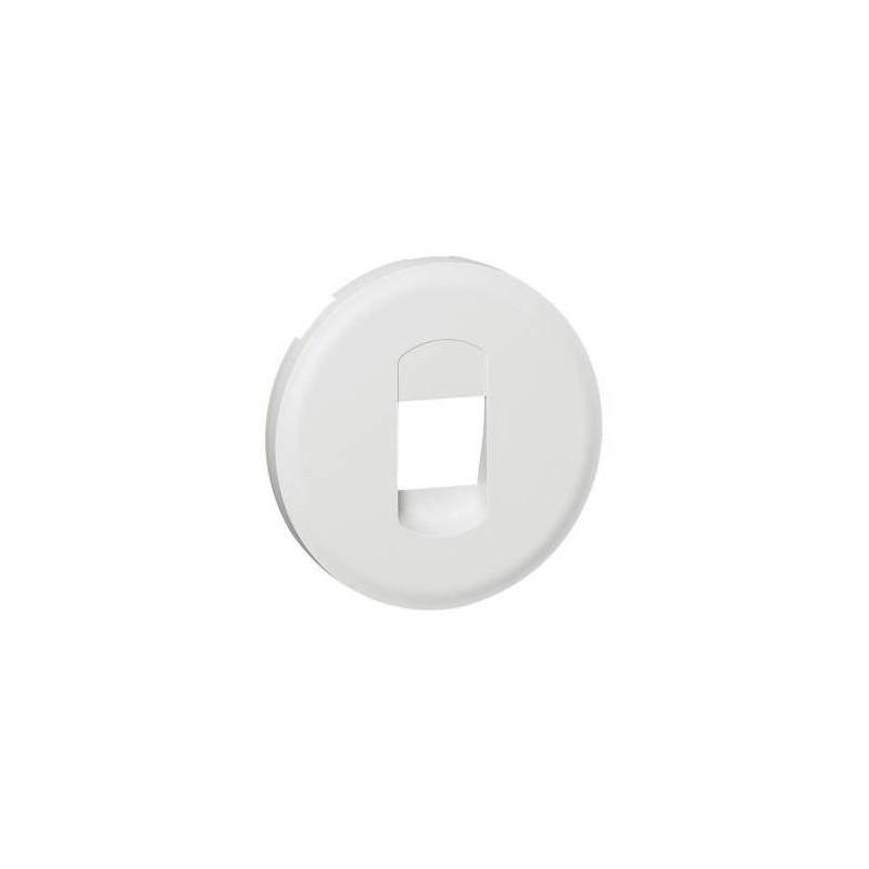 LEGRAND Enjoliveur Céliane pour prise haut parleur simple - Blanc 068211