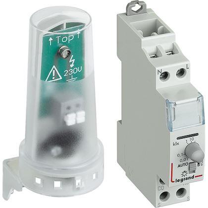 LEGRAND Inter crépusculaire standard sortie 16A cellule photoélectrique - 1 mod 412623