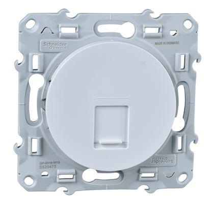 SCHNEIDER ELECTRIC Odace, prise RJ45 Blanc, grade 1 (téléphone + informatique) cat. 6 UTP, à vis S520475