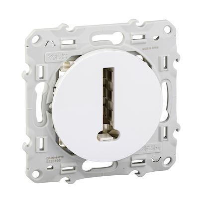 Schneider Odace - Conjoncteur en T - Blanc - Réf : S520496
