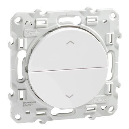 Schneider Odace - Bouton Poussoir pour Volets-Roulants - Blanc - Réf : S520207