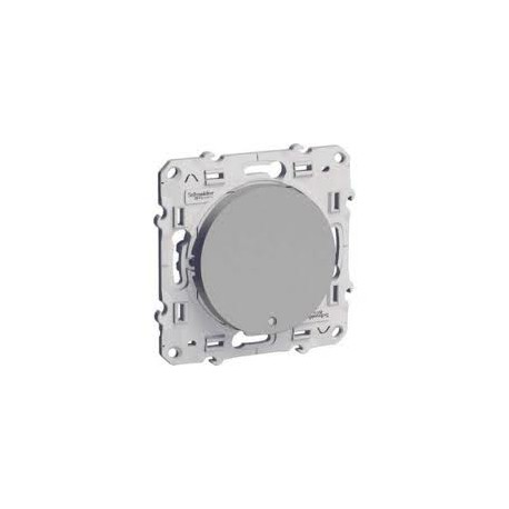 Schneider Odace - Bouton Poussoir Lumineux - Alu - Basse Consomation - Réf : S530276
