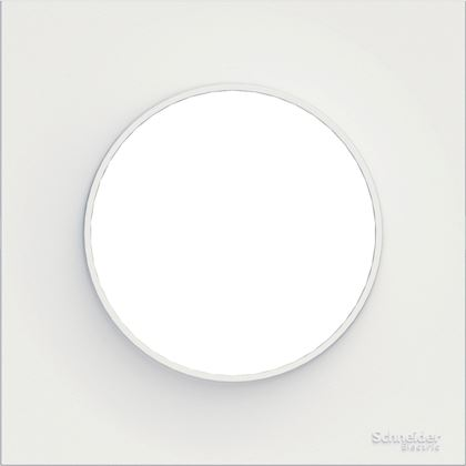 Schneider - Odace Styl, Plaque Blanc 1 Poste - Réf : S520702