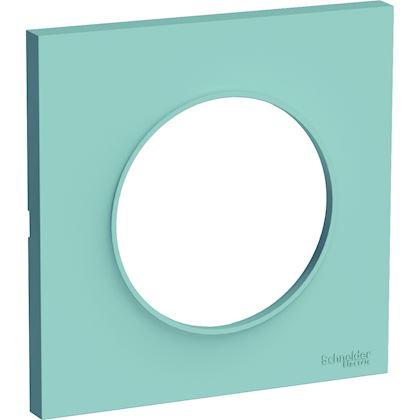 SCHNEIDER ELECTRIC Odace Styl plaque Bleu Cian 1 poste S520702C