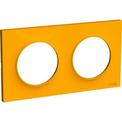 SCHNEIDER ELECTRIC Odace Styl plaque Ambre 2 postes horizontaux ou verticaux entraxe 71mm S520704G