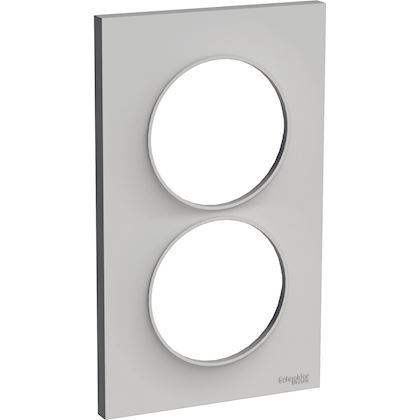SCHNEIDER ELECTRIC Odace Styl - plaque 2 postes - sable - entraxe 57mm vertical S520714B1