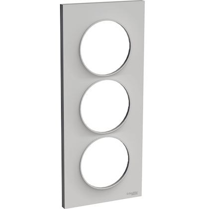 SCHNEIDER ELECTRIC Odace Styl - plaque 3 postes - sable - entraxe 57mm vertical S520716B1