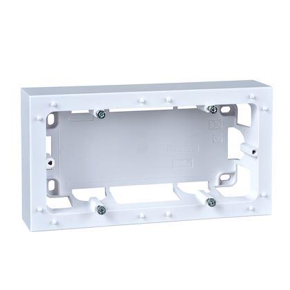 SCHNEIDER ELECTRIC Odace Styl, boîte pour montage en saillie Blanc, 2 postes entraxe 71mm S520764