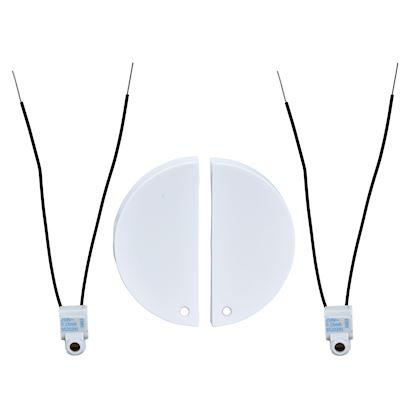 SCHNEIDER ELECTRIC Odace, 2 demi enjoliveur Blanc livré avec 2 LED bleu 0,15 mA connexion par câble S520298