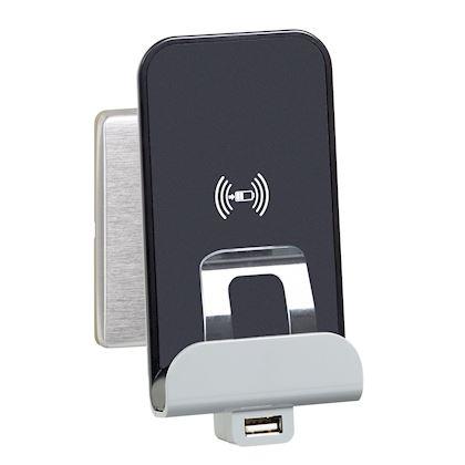 LEGRAND Chargeur sans fil à induction et chargeur USB Céliane Type-A 068118
