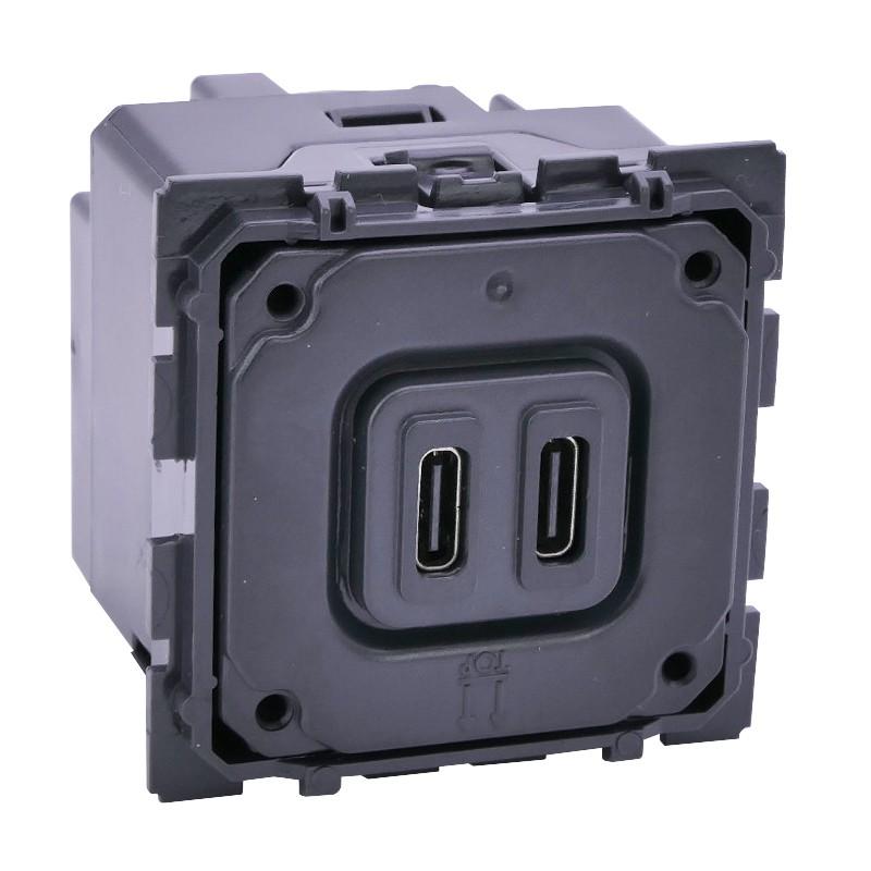 LEGRAND Chargeur double USB Céliane Type-C 3A 15W 067466
