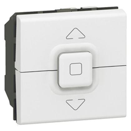 LEGRAND Interrupteur de volets roulants 500W maximum Mosaic 2 modules - blanc 077026