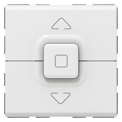 Legrand Mosaic - Poussoir pour 1 volet roulant - 2 modules - blanc - Réf: 077025