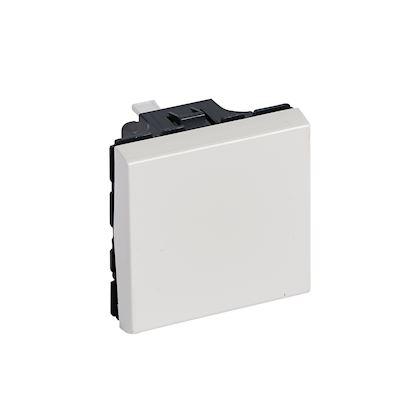Legrand Mosaic - Poussoir inverseur 6A - 2 modules - blanc - Réf: 077041