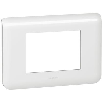 Legrand Plaque pour 3 modules blanc Mosaic 078803