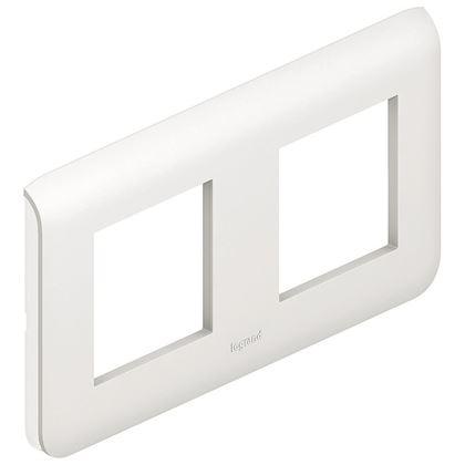 Legrand Mosaic - Plaque pour 2x2 modules horizontal - Réf : 078804