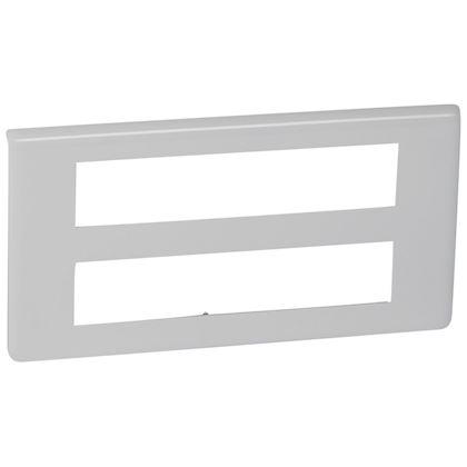 Legrand Mosaic - Plaque pour 2x10 modules blanc - Réf : 078828