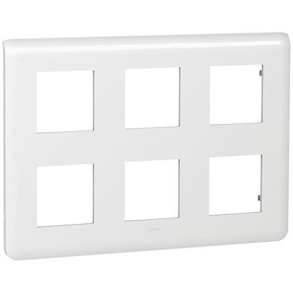 Legrand Mosaic - Plaque pour 2x3x2 modules - Réf : 078832