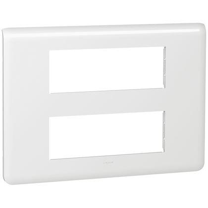 Legrand Mosaic - Plaque pour 2x6 modules - Réf : 078836