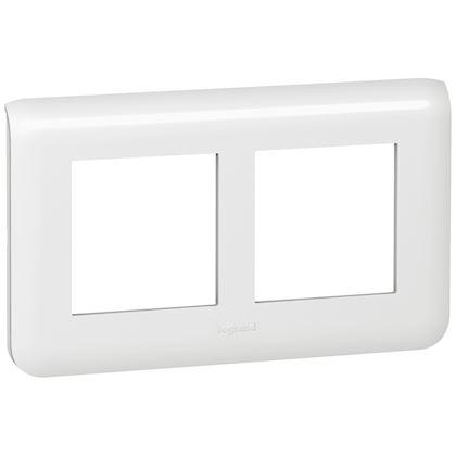 Legrand Mosaic - Plaque spéciale rénovation - 2x2 modules horizontal - Réf : 078864