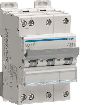 HAGER Disjoncteur 3P+N 6-10kA courbe D - 40A 3 modules NGT840