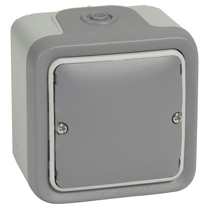 Legrand - Sortie de câbles avec serre-câbles Plexo complet IP55 saillie - gris - Réf : 069745