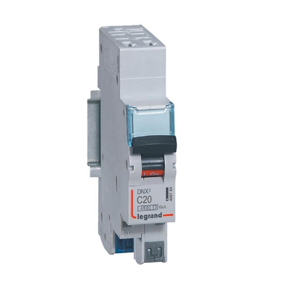 Disjoncteur DNX³ 4500 - auto/auto - U+N 230V~ 20A - 4,5kA - courbe C