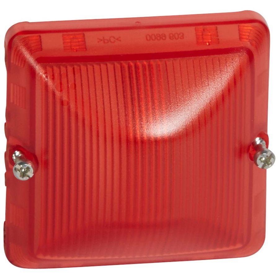 Legrand - Diffuseur étanche rouge Prog Plexo composable - Réf : 069591