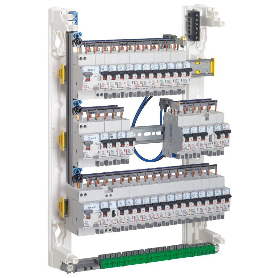 Peigne vertical VX³ - entraxe 125mm - pour coffret 3 rangées legrand 405001