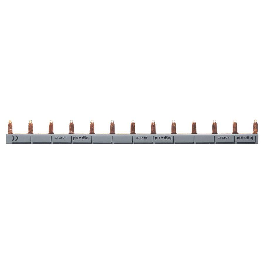 Peigne d\'alimentation universel Phase + Neutre HX³ 1P - longueur 13 modules legrand 404926