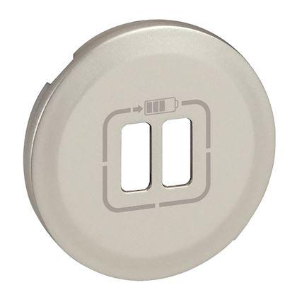 LEGRAND Enjoliveur Céliane pour chargeur double USB Type-A et Type-C - titane
