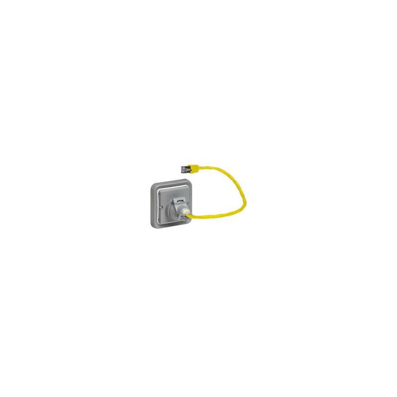 Legrand - Adapateur Prog Plexo composable pour fonction Mosaic - pour prises RJ - IP 44 - Réf : 069581