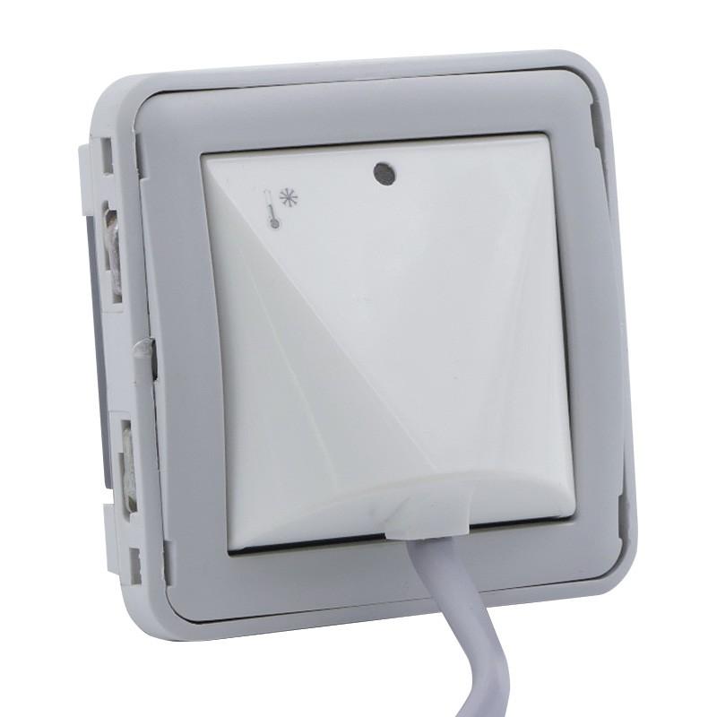 Legrand - Détecteur d\'élévation de température Prog Plexo composable gris/blanc - Réf : 069594