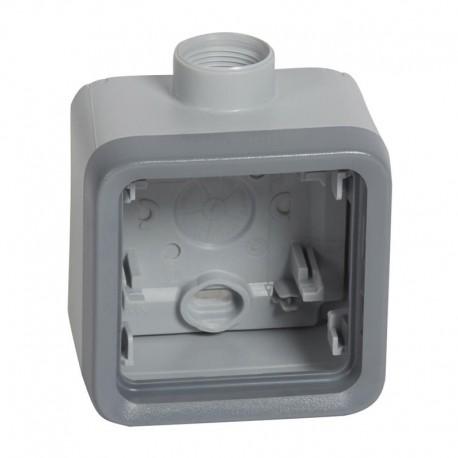 Legrand - Boîtier presse-étoupe Prog Plexo composable gris - 1 poste - PG 16 - Réf : 069652