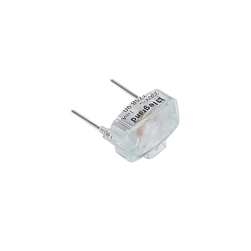 Legrand - Lampe de rechange Plexo verte 230V 1mA pour poussoir simple lumineux uniquement - Réf : 069496