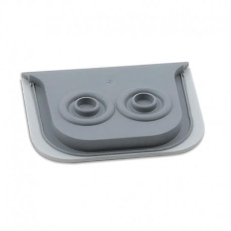 Legrand - Embout à membrane Prog Plexo - gris - 2 sorties - Ø jusqu\'à 16 mm - Réf : 069599