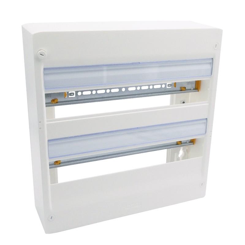 Legrand - Coffret DRIVIA 18 modules - 2 rangées - IP30 - IK05 - Blanc RAL 9003 - Réf : 401222