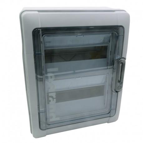 Legrand - Coffret Plexo 2x12 modules avec embouts à perf. directe - IP 65 - IK 09 - Gris - Réf : 001922