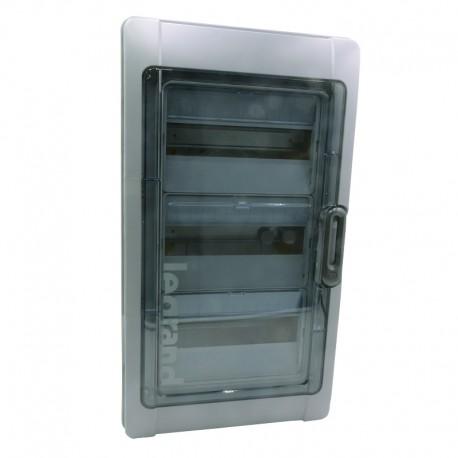 Legrand - Coffret Plexo 3x12 modules avec embouts à perf. directe - IP 65 - IK 09 - Gris - Réf : 001923