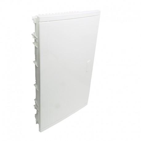 Legrand - Coffret encastré - porte isolante galbée - 3 rangée - 36+6 mod - blanc RAL 9010 - Réf : 001513